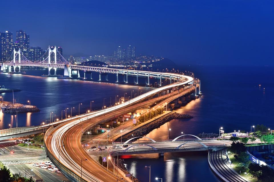 staying in korea: Busan city night