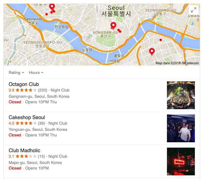 nightclubs in Korea