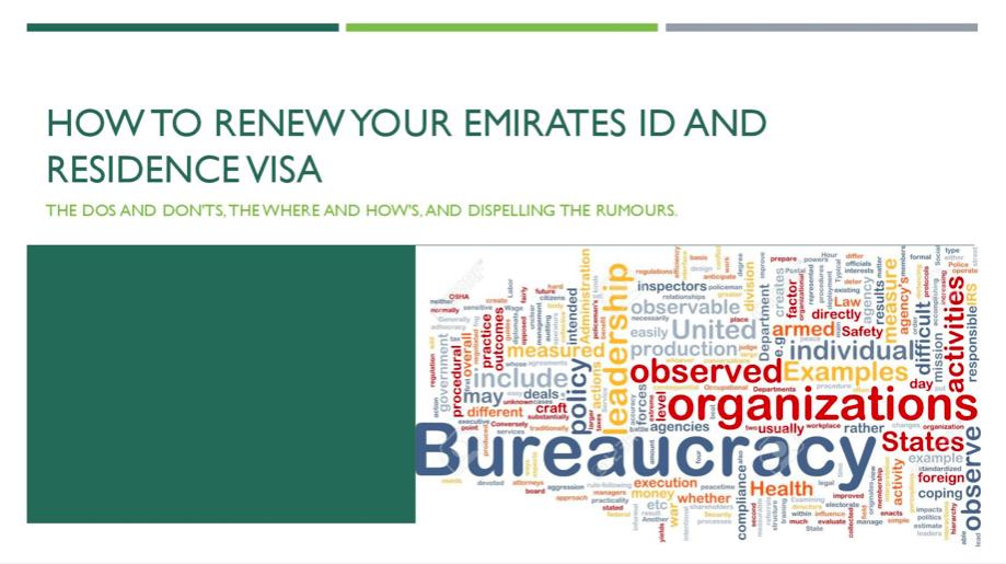 renew visa and Emirates ID